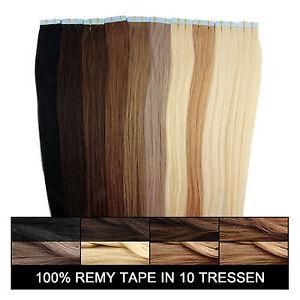 Tape-in-Extensions-Remy-Echthaar-Haarverlaengerung-Haarteil-Haarverdichtung-Hair