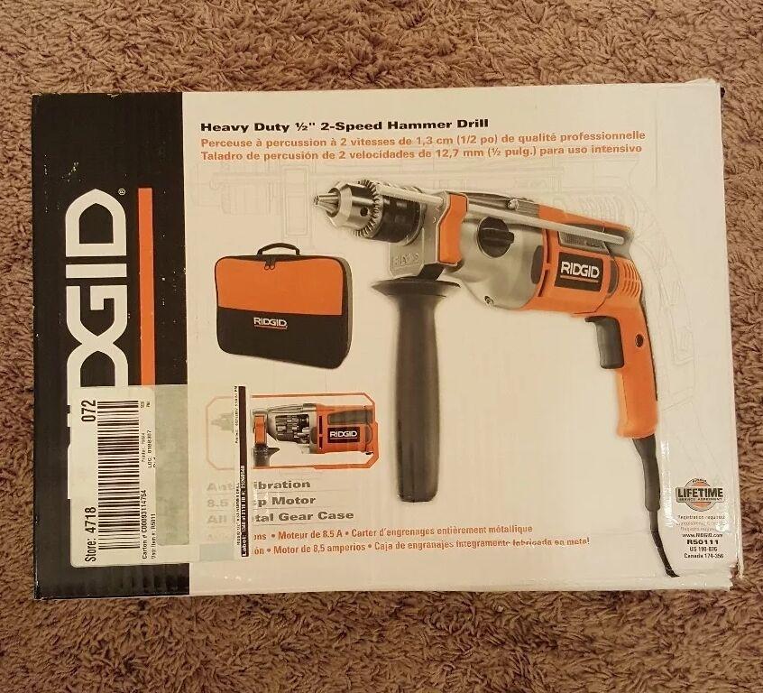 Ridgid R5011 1 2   Corded Hammer Drill