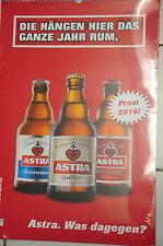 """Astra Bier Wand Kalender """"Die hängen.."""" 2014 St Pauli KIEZ Hamburg"""