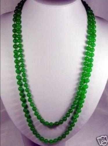 environ 91.44 cm long 8 mm vert naturel jade perles rondes Collier AAA 36 in