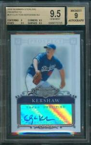 2006-Bowman-Sterling-Prospect-CLAYTON-KERSHAW-Rookie-Card-Auto-Dodgers-BGS-9-5