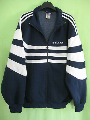 Veste Adidas 90'S Marine et Blanche Vintage Jacket Football 192 XXL | eBay