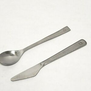 North West  Airlines Stainless  Flatware set Spoon Knife Classic Flatware