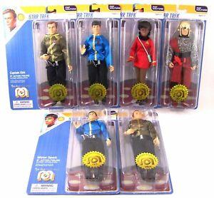 Ensemble de figurines Star Trek 6 (1 X 9 x Kirk 2x Spock) Mego-62902cs