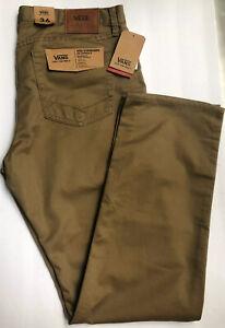 Details about NWT Vans Mens Size 36 / 32 Regular Khaki Beige Flat Front Pants V56 Standard AV