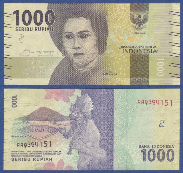 INDONESIEN / INDONESIA 1000 Rupiah 2016  UNC  P.154