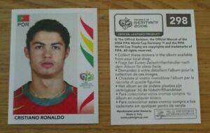 Rookie-panini-sticker-298-cristiano-ronaldo-world-cup-germany-2006-mint-rare