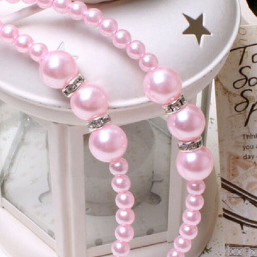 1 X Beautiful Rhinestone Headband with Pearls Hair decorations Baby Girls W.
