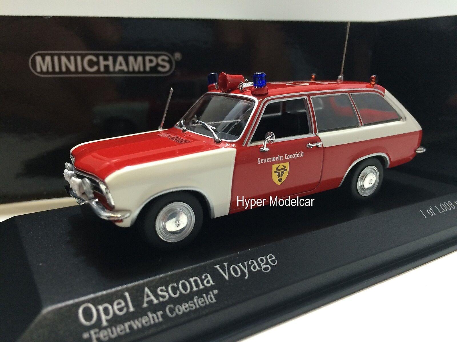 Minichamps 1/43 Opel Ascona Voyage Station Wagon Fire Engine 1970 Art.400045890