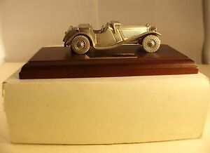 Matchbox-Jaguar-SS-100-1936-metal-etain-argente-neuf-en-boite-rare