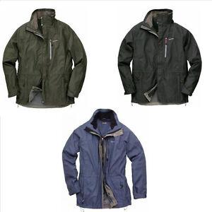 CRAGHOPPERS Kiwi 3 in 1 Jacket, mens waterproof coat, inner zip ...