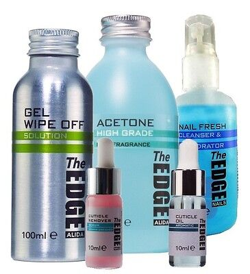 The Edge Gel Nail Liquid Kit - Perfect of Shellac or Gel Manicures - Bluesky
