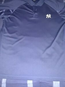 Image is loading mens-new-york-yankees-polo-style-shirt-blue- d209d581ee8