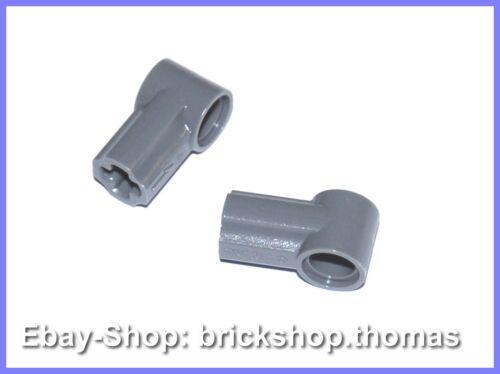 Lego 2 x Technic alineación-pin-conector gris 32013-connector Gray-nuevo//new