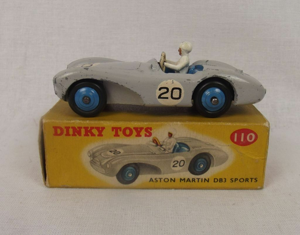 Boxed dinky spielzeug nr. 110 aston martin 1956-1959 db3 - sport