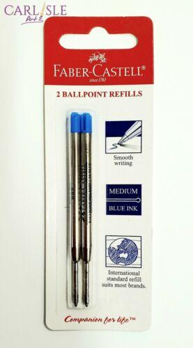 Faber-Castell Ballpen Refill Blister Blue 2 Pack