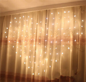 LED-Heart-Shape-Fairy-String-Curtain-Light-Valentine-039-s-Day-Wedding-Party-Decor