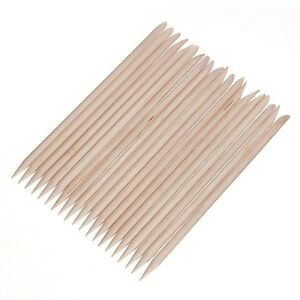 100-pcs-Cuticle-Pusher-Remover-Wood-Sticks-Orange-Nail-Art-Manicure-Disposable