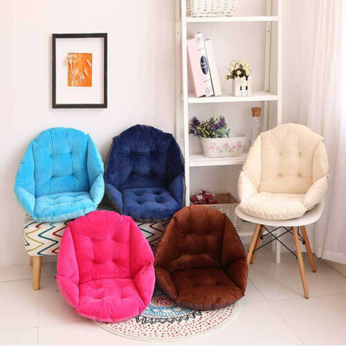 Seashell Shape Design Seat Cushion All-rounded Soft Chair Pad Pillow-Coffee