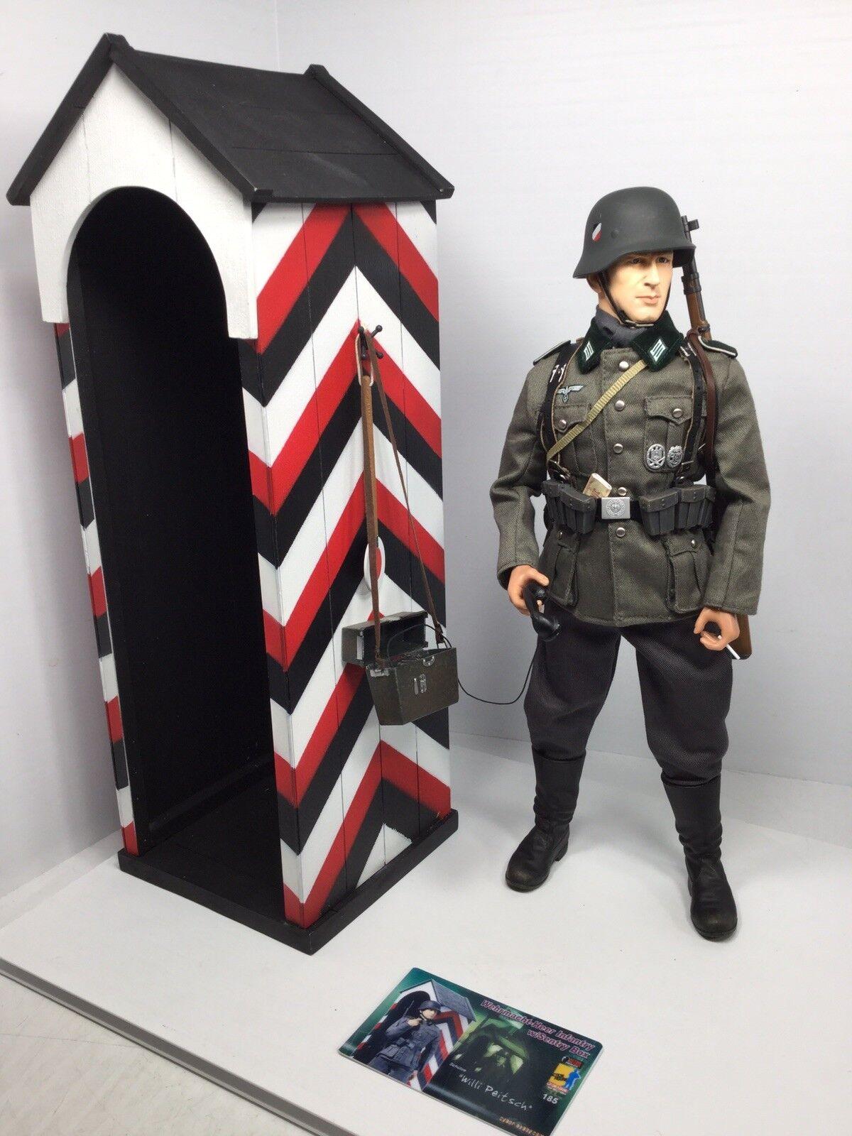 1 6 DRAGON GERMAN WEHRMACHT SENTRY & SENTRY HUT +TELEPHONE K-98 WW2 BBI DID 21st