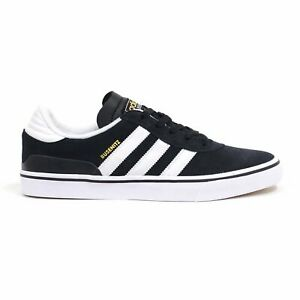 adidas-Busenitz-Vulc-Black-White-Black-Men-039-s-Skate-Shoes