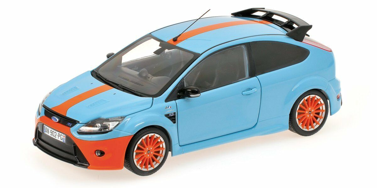 1 18 Ford focus rs  Gulf  Ford gt40 tribute Le Mans 1968 Minichamps 100 080068