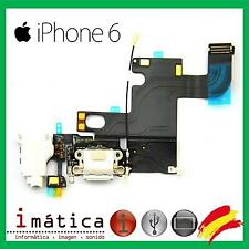 CONECTOR DE CARGA iPHONE 6 4.7 BLANCO POWER JACK AURICULAR MICROFONO FLEX DOCK