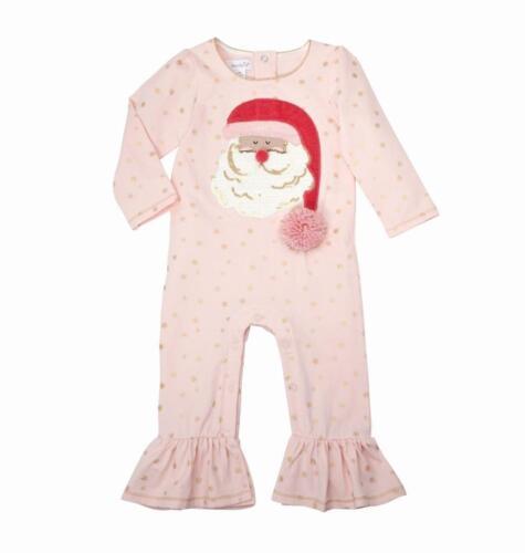 Mud Pie Kids Pink Santa Christmas 1 Piece Set with Pom Pom Accent