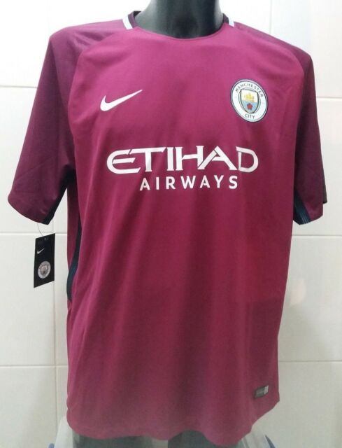 newest collection 8a984 4d92c Nike Mens Manchester City 17/18 Away Replica S/s Football Shirt XL