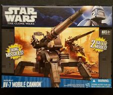 Star Wars The Clone Wars CG Animated Republic AV-7 Mobile Cannon Vehicle MIB NEW