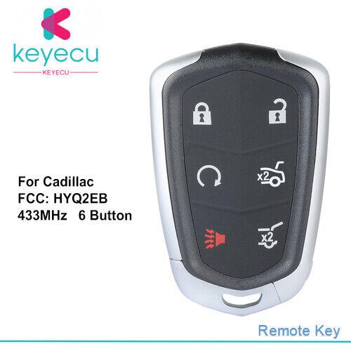Key Fob Shell Case For Cadillac ATS Ct6 CTS SRX Xt5 XTS