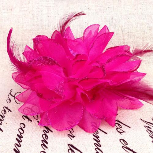Frauen Orchidee Braut Hochzeit Blume Haarspange Brosche Haarspange Kopfstück CN