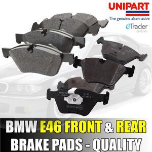 BMW-3-serie-E46-Pastillas-de-freno-delanteras-y-traseras-99-07-GENUINA-UNIPART-Calidad-Premium