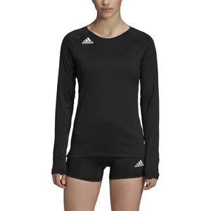 Details about Adidas HILO Women's Long Sleeve Volleyball Jersey DX0887 - Black (NEW) Lists@$35