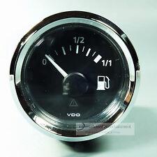 VDO combustible Cuadro de indicadores tauchrohr tankanzeiger gauge 12v/24v LED anillo de cromo