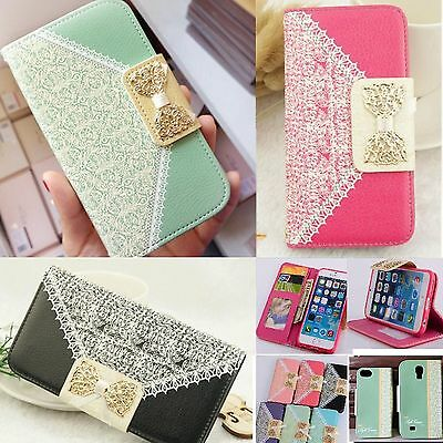 New PU Leather Flip Case Wallet Card Holder  Cover For Samsung Galaxy iPhone 6S