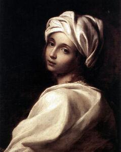 Beatrice-Cenci-Potrait-Painting-Italy-Italian-Woman-8x10-Real-Canvas-Art-Print