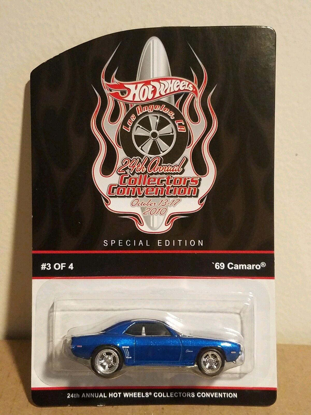 Hot wheels blau 69 camaro 24 sammler übereinkommen exklusiv