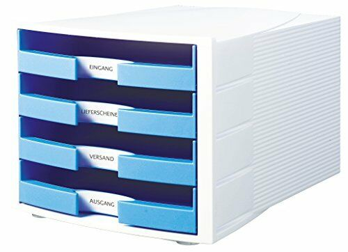 HAN Schubladenbox IMPULS Trend Colour 4 offene Schübe  Büro Ablagesystem Ablage