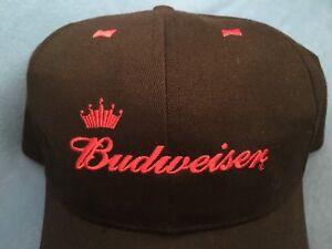 Vintage BUDWEISER BEER Hat Advertising Cap King of Beers Beechwood ... 2aa8eeb2a32a