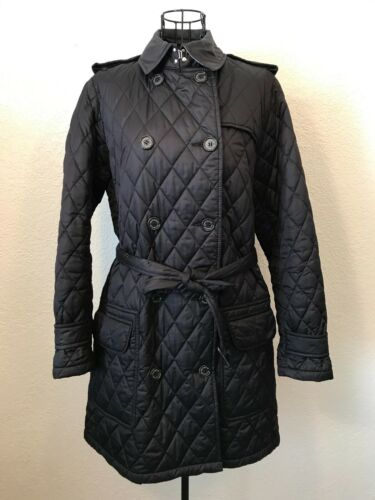 GUC Barbour Women Black Double Breasted Valerie Qu