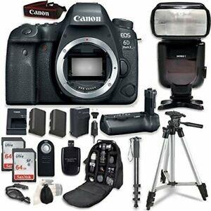 Canon EOS 6D Mark II DSLR Body + Canon BG-E21 Battery Grip + Professional Bundle