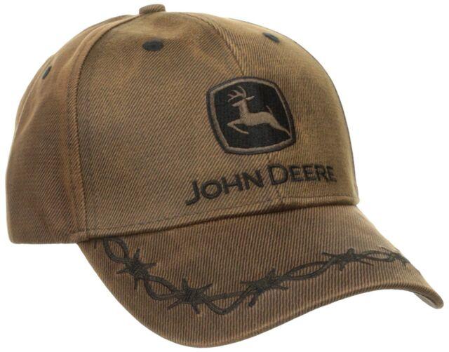 John Deere Oilskin Cap 6-panel One Size Fits All Brown OSFM 13080099 ... 82b62a7f8474
