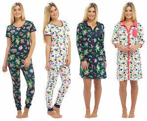 f7458cfe88 Image is loading Ladies-Summer-Pyjamas-or-Nightshirt-Cuffed-Navy-Blue-