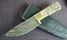 Damast Messer Jagdmesser Widderhorn 207 Gramm Damastmesser Handarbeit Neu Top