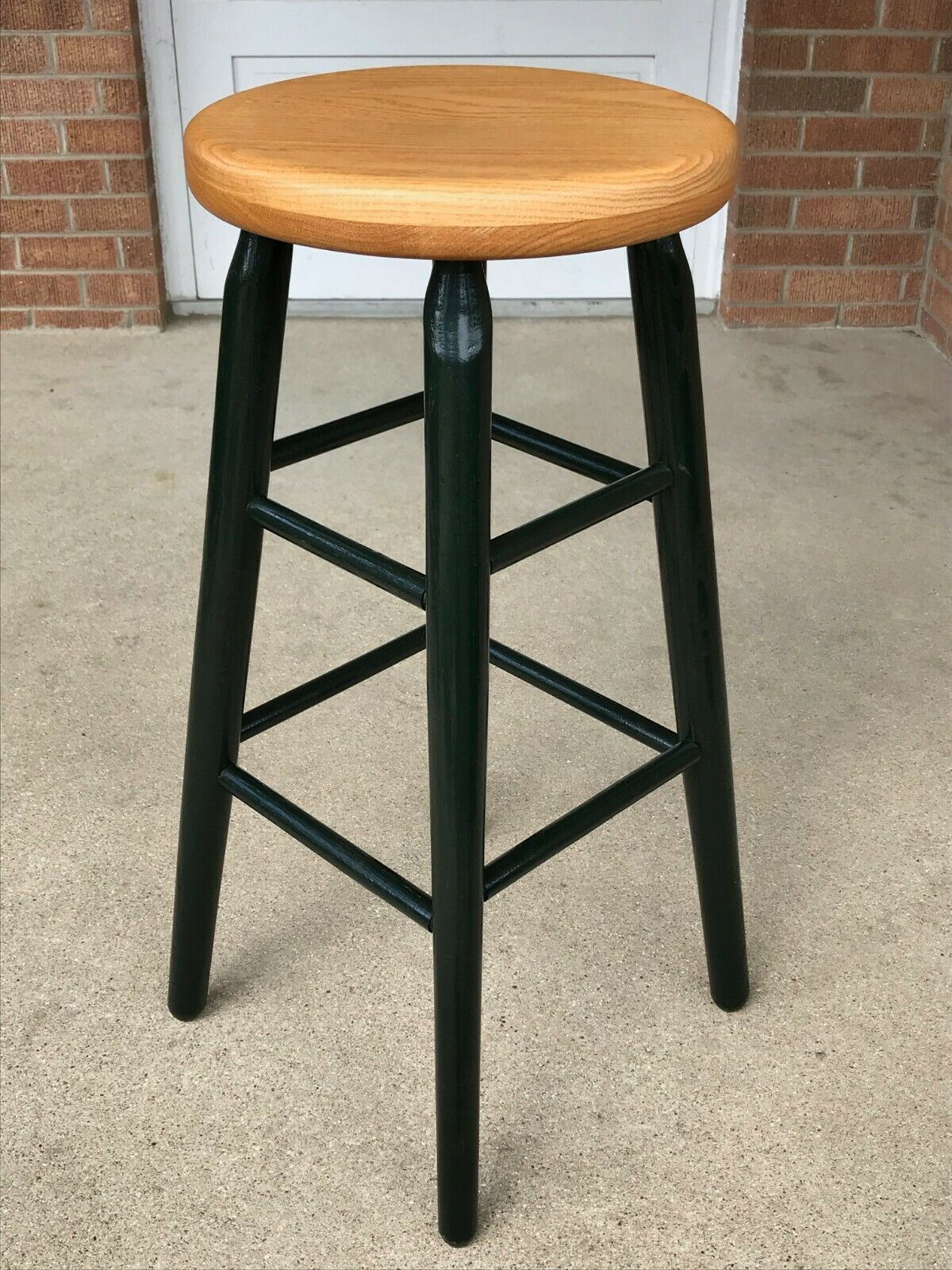 Fusion Living Mustard Yellow Plastic Bar Stool With Beech Wood Legs For Sale Online Ebay