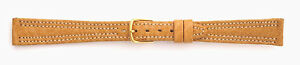 14mm-FLEURUS-GENUINE-BUFFALO-LIGHT-TAN-DBL-STITCHED-LEATHER-WATCH-BAND