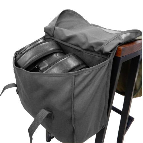 Motorcycle Scooter Bike Luggage Rear Seat Rider Bag Tail Saddle Bag Canvas Black