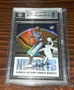2003-04-Topps-Pristine-107-CARMELO-ANTHONY-Rookie-RC-Refractor-BGS-Mint-9-HOF