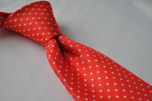 Red Frederick Thomas Designer Mens Tie Polka Dot Wedding Handmade Necktie